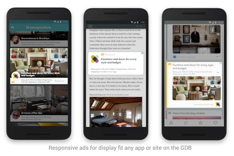 Responsive ads for AdWords Display Network fit any app or site on the GDB